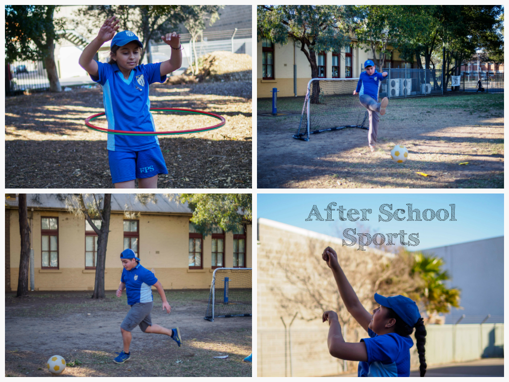 Students participating in after school sports